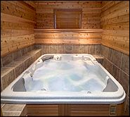 Wood Paneled Spa Room. Indoor Hot Tub Part 36